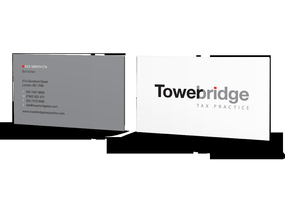 Tigerpink Design - Tower Bridge Business Card