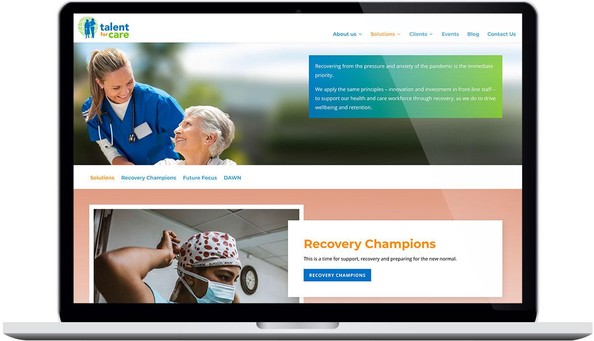 Tigerpink Design - Talent for Care - Laptop