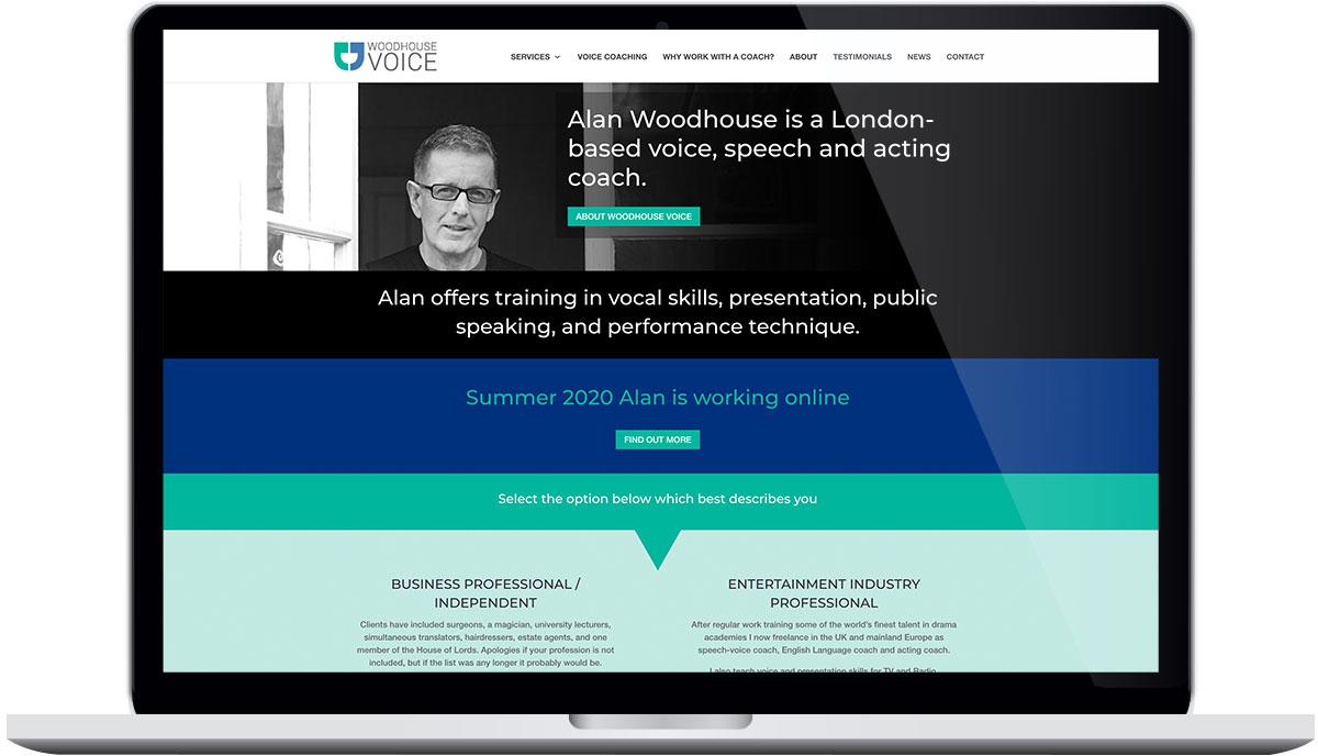Tigerpink Design - Woodhouse Voice - Laptop