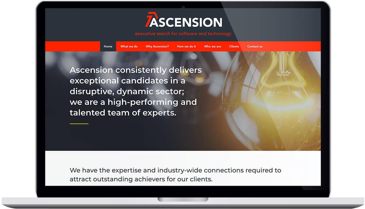 Tigerpink Design - Ascension Executive Search - Laptop